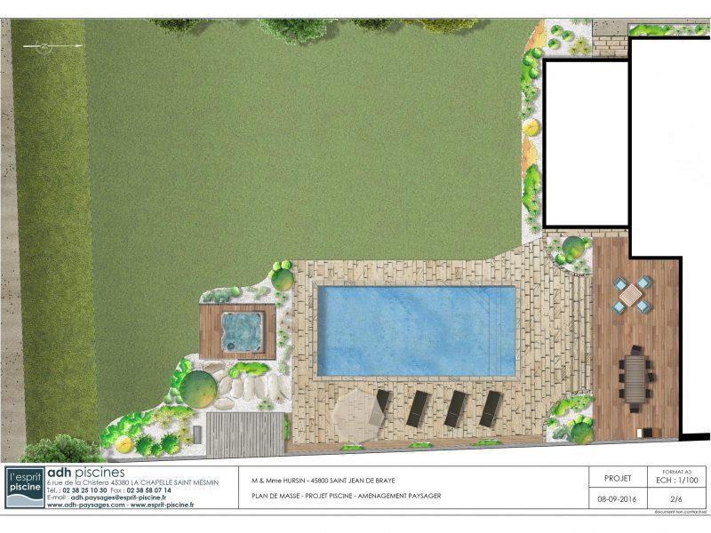 ADH Paysage, projet de piscine et aménagement paysager